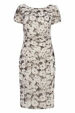 Boat Neck Stretch, Bodycon Clubwear Floral Dresses for Women