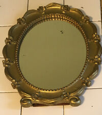 Syroco Vintage 1943 Gold Oval Mirror Dresser Desk Wall USA