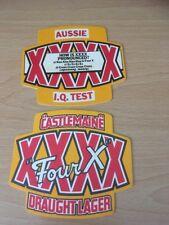2 X CASTLEMAINE  FOUR X LAGER BEER MAT - DRIP MAT