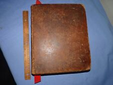 Beautiful 1826 Large Leather Bible with Family History, Map and Steel Engravings