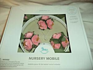 Pottery Barn Baby Kids Nursery Roses Felted Mobile Music Box