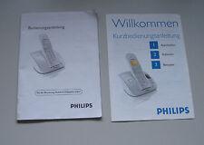 Bedienungsanleitung für Philips Mobilteil CD 230 + Kurzbedienungsanleitung