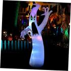 12 Ft Halloween Inflatables Scary Ghost with Color Changing LEDs Decorations,