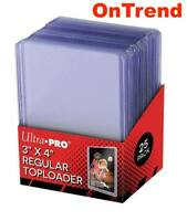 Ultra Pro CLEAR TOPLOADER x 25 Rigid Card Protector Pokemon Regular TOP LOADERS