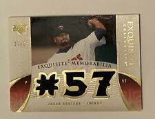 2006 Upper Deck Exquisite Johan Santana Game Used Jersey Card 18/25 Twins