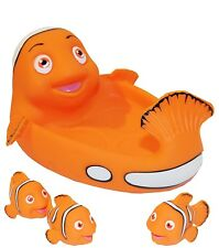 Rubber Clown Fish Family Bathtub Pals - Floating Bath & Pool Toy