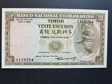 EAST TIMOR 20 ESCUDOS UNC 1967 CURRENCY MONEY BILL (Minor Foxing)