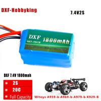 DXF 7.4V 1800mah 2S 20C Max 40C for Wltoys A959-b A969-b A979-b K929-B RC Car
