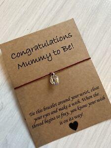 💕Mummy To Be Wish Friendship bracelet Good Luck Mum Gift 💕