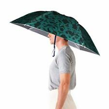 Aoneky Windproof Head Umbrella Hat –36'' Large Adults Folding Brolly Hat with