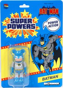 2012 SDCC DC BATMAN 100% BEARBRICK FIGURE MEDICOM GREY SUPER POWERS NEW SEALED