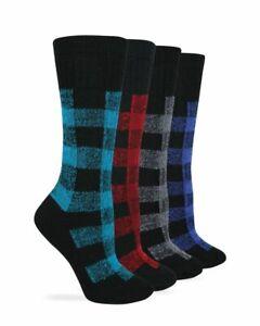 Wise Blend Ladies Merino Wool Blend Plaid Pattern Cushion Socks 1 Pair