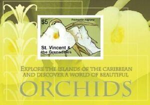 St. Vincent 2007 - SC# 3572 Caribbean Orchids, Flower - Souvenir Sheet - MNH