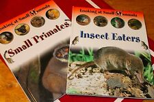 Looking at Small Mammals ~ Small Primates & Insect Eaters (2 books) NEW