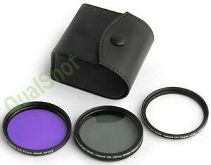 52MM 3 PCS FILTER KIT FIT for Canon EF 80-200mm f/4.5-5.6 Lens