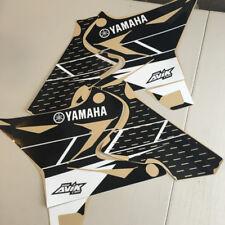 Yamaha yz125 yz250 Retro Shroud Graphics for UFO  Restyle Plastic kit Black