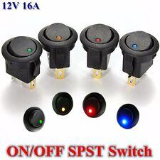 12V DC LED Dot Light Car Auto Boat Round Rocker Toggle ON/OFF SPST Round Switch