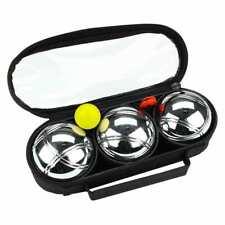 Get & Go Spiel Boule Set IV 3 Kugeln Boulekugeln Metallkugeln Petanque Boccia