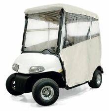 Ultimate Club Car DS Golf Cart Enclosure - (2 Pass) - Ivory