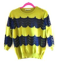 Carven Lace Top Sweater L