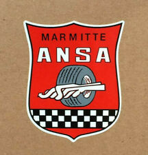 ANSA Marmite Muffler Exhaust System Vintage Sports Car Racing Decal Sticker