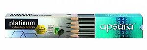 Apsara Platinum Extra Dark Pencils - Pack of 10 Pencils E962