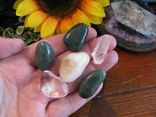"""New """"Good Luck & Positivity"""" Natural Crystal Healing Power Stone Set of 6"""