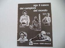 advertising Pubblicità 1975 CASCO AGV e GIACOMO AGOSTINI/FITTIPALDI/WALTER VILLA