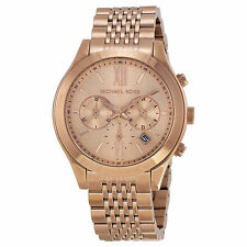 LATEST NEW MICHAEL KORS MK5775 BROOKTON ROSE GOLD TONE CHRONOGRAPH WOMEN'S WATCH