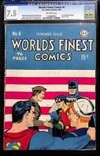 WORLD'S FINEST COMICS #6 - SUMMER 1942 - CGC 7.5 by DC Comics
