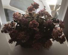 """Artificial Silk Flower arrangement in Basket 10"""" x 6"""" tall.Flowers Reach 16""""X22"""""""
