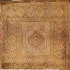 Antique Muted Geometric Traditional Oriental Area Rug Handmade Wool Square 2x2