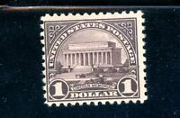 USAstamps Unused FVF US $1 Lincoln Memorial Scott 571 OG MNH
