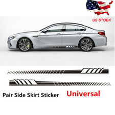 2PCS Black  Auto Car Side Body Long Stripe Vinyl Decals Decoration Sticker