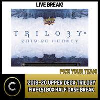 2019-20 UPPER DECK TRILOGY HOCKEY 5 BOX (HALF CASE) BREAK #H616 - PICK YOUR TEAM
