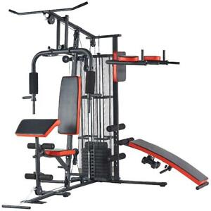 Home Gym Workout Station Weight Stack Strength Fitness Exercise Equipment Bench