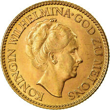 [#881491] Coin, Netherlands, Wilhelmina I, 10 Gulden, 1925, AU(55-58), Gold