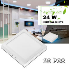 20X 24W Neutral White Square Led Ceiling Fixture Panel Downlight Bedroom Lamp