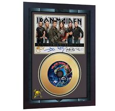 NEW! Iron Maiden The Final Frontier Mini Gold Vinyl Record Signed Framed Print