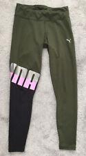 🌸PUMA Ladies Leggings Activewear Khaki Green Size 10🌸