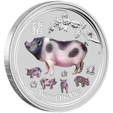 Australien - 30 Dollar 2019 - Jahr des Schweines - Edelstein - 1 Kilo Silber ST