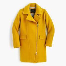 Jcrew Biker Zip Mustard Yellow Wool Coat US8 UK 14 Topshop