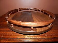 """Lazy Susan, Handmade of Solid Walnut. very large 16"""" diameter. Made in Oregon."""