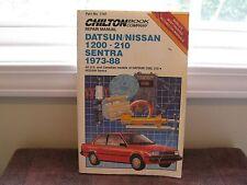 Chilton's Repair Manual For Nissan Sentra, Datsun 1200 and B210, 1973-1988