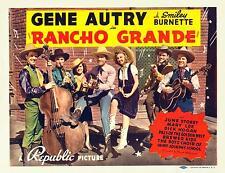 GENE AUTRY & JUNE STOREY * RANCHO GRANDE * outstanding 11x14 TC print * 1940