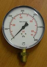 Pressure Gauge 0..6000 kPa/ 870 psi 100mm Gauge, bottom entry