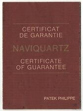 VINTAGE Patek Philippe certificato di garanzia per naviquartz certificato OEM