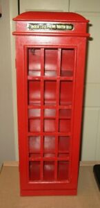"""""""London Telephone Booth 1930"""" STORAGE CABINET  CD/DVD Books Collectibles VGUC"""