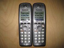 Lot of 2 Panasonic Kx-Tga410 Cordless Expansion Handset Phone