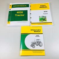 SERVICE PARTS OPERATORS MANUAL FOR JOHN DEERE 4030 TRACTOR TECHNICAL SHOP REPAIR